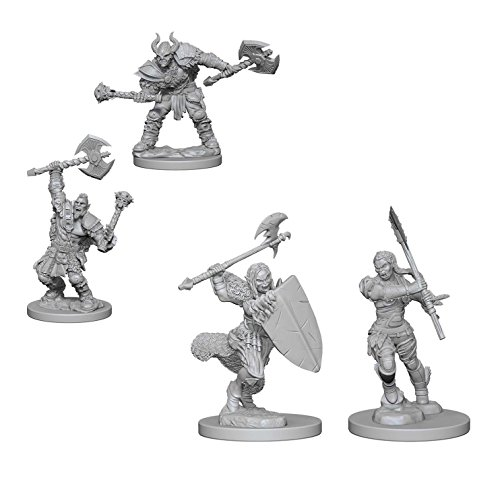 (Pathfinder Battles Deep Cuts Miniatures Bundle: Half-Orc Male Barbarian & Half-Orc Female Barbarian)