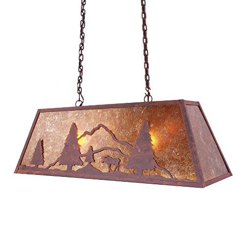 Steel Partners Lighting Canyon Swag, (Moose 2 Light Pendant)