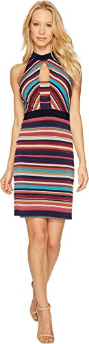 Shelli Segal Stripe - Laundry by Shelli Segal Women's Printed Stripe Shift Dress Ink Blot Dress