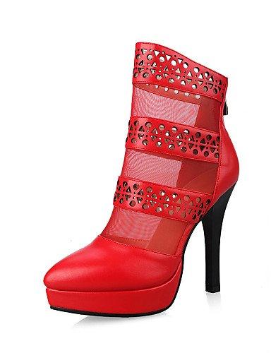 Fiesta Eu39 Vestido us8 Moda Cn39 Xzz Red Eu35 Uk3 Negro us5 Noche Stiletto Botas La A Red Tacón Rojo Zapatos Mujer De Uk6 Semicuero Cn34 Y zzqvFU