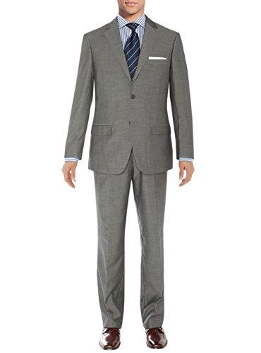 Salvatore Exte Men's Modern Two Button Sharkskin Suit (42 Regular US / 52R EU/W 36