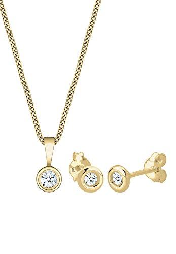 DIAMORE - Bracelet boucles d'oreilles - Or jaune 14 cts - Diamant 0.22 cts - 0906730115_45