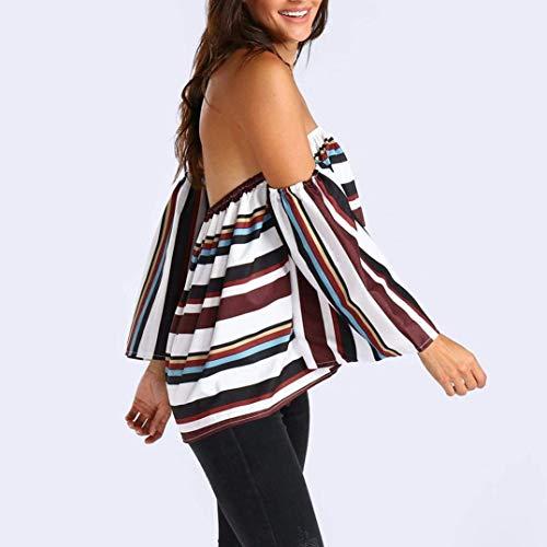 Tops Bretelle Bluse Eleganti Casual Rotondo Sciolto Fashion Stampa Estivi Ragazza del Corta Senza Manica Camicetta Donna Vintage Collo Maglietta Basic Fiore 47xq7CnwXr