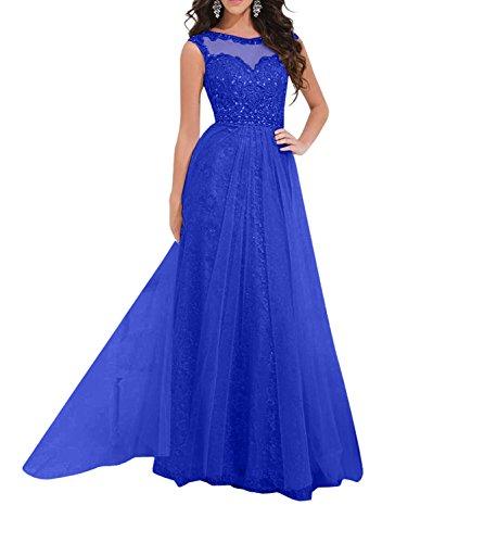Linie Glamour Partykleider Rock Chiffon Spitze Blau A Damen Promkleider Abendkleider Cocktailkleider Lang Royal Hell Rosa Charmant Fqx75BwS