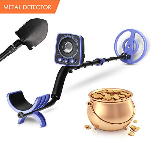 INTEY Metal Detector for Adults and Kids Waterproof GC-1065 Metal Detectors for Amateur Adjustable(35'-45') High Accuracy with LED Flash Light &Two Mode(Multi-Function Folding Shovel)