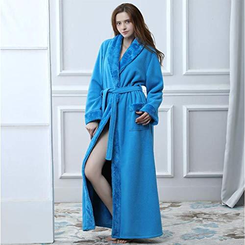 Flanella Azzurro Da Accappatoi Pigiama Kimono Donna Boyann Notte Vestaglie Di 76mbIyfYgv