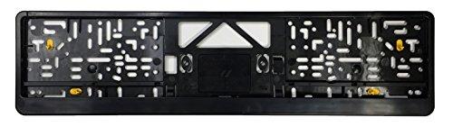 Euro Plate Frame - Premium European License Plate Frame - Evolution 3 - Black