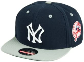 2f2e02a07 MLB Men's New York Yankees Blockhead Snapback Cap (Navy/Grey ...
