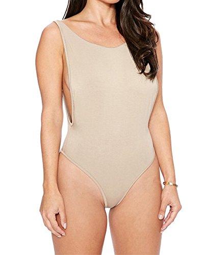 Da Costumi Bikini Donne Bagno Bagno Costume Cachi Perizoma Backless Halter Da EtSqwSa