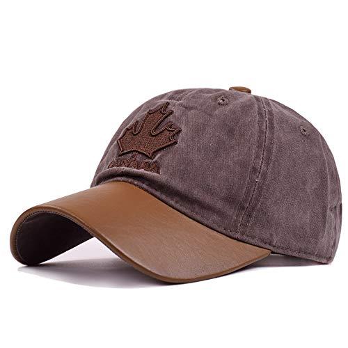 QETUOAD Unisexe Réglable Chapeau Coton Femmes Casquette De Baseball Hommes Lavé Broderie Maple Chapeaux D'été Mode Lettre Chapeau De Baseball