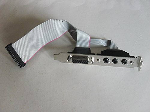 2 ports Motherboard Header Slot Plate with grey ribbon cable (7