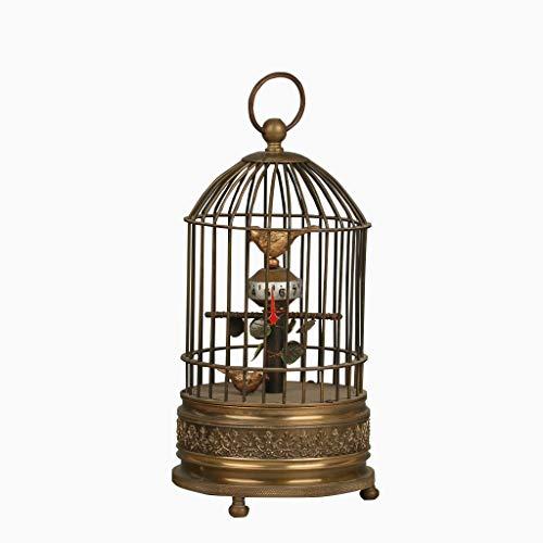 (European Brass Handmade Birdcage Shape Mechanical Clock)