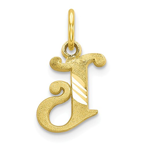 10k Yellow Gold Initial Monogram Name Letter J Pendant Charm Necklace Fine Jewelry Gifts For Women For Her