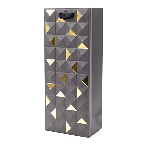Hallmark Signature Bottle Gift Bag (Black and Gold Emboss) ()