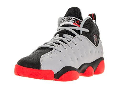 jordan 23. nike jordan kids jumpman team ii bg wolf grey/infrared 23/black/infrared 2 basketball shoe 5 us 23