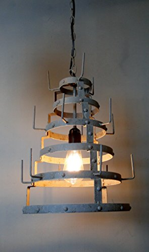 The Kings Bay French Factory Wine Bottle Dryer Pendant Ceiling Light Chandelier Old Style