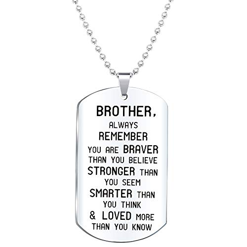 Elegant Chef Brother Inspirational Jewelry Necklace Gift- Always Remember You are Braver Than You Believe