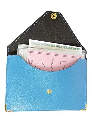 Voiture Porte Bleu Ciel Grise Carte Etui Pochette permis Papier Carte 108Rtxq