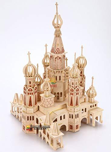 Zhiwen 3D Simulation Model Wooden Puzzle Kit for Children Or Adults Artistic Wooden Toys for Children-Buildings Series Castle by Zhiwen (Image #5)