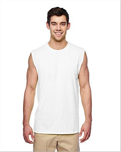Jerzees 29SR Adult Sleeveless Shooter T-Shirt - White - 3XL - Jerzees Adult Sleeveless T-shirt