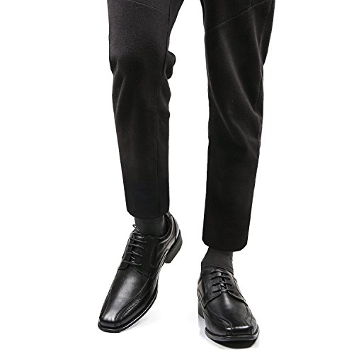 Classico Morbida di Mocassini Nera Uomo Pelle Uomo Scarpe Nero K8901 2 Shenji 8XwAtxqEM