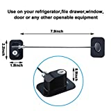 4 Pack Refrigerator Door Lock with Keys Adhesive