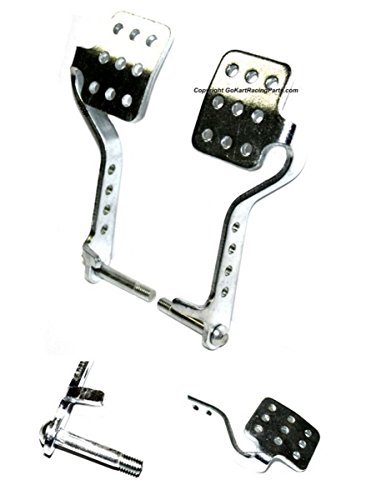 Vintage Pedals Pair Brake Throttle Pedal Kit Go Kart Racing Chassis Fun Cart (Kart Go Pedal Gas)