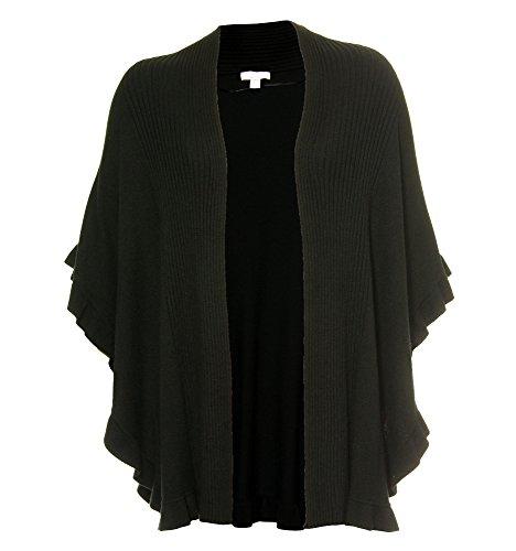 Charter Club Women's Plus Short Sleeve Open Front Cardigan Sweater 2x Black
