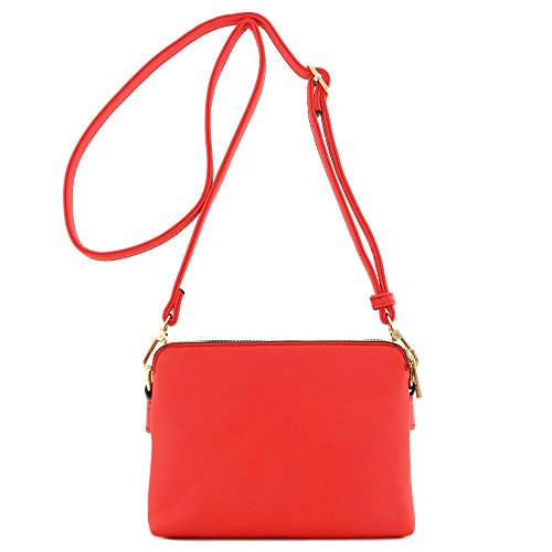 Compartment Crossbody Small Double Coral Bag Adq1gYw