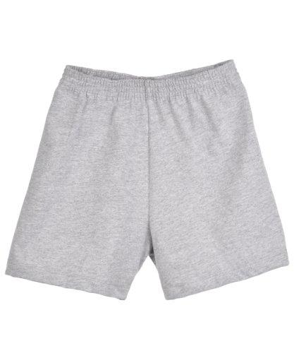 Rabbit Skins Jersey Unisex Gym Shorts - gray, 2t