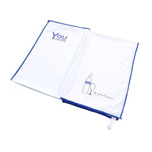 Fine Trendy Edge (Youlixuess Large Microfiber Glass Polishing Cloth 24x20 inch - Premium Quality (White) (24x20 inch 1-Pack))