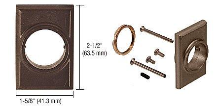 C.R. LAURENCE 30821J313 CRL Dark Bronze Jackson No.86 Mortise Cylinder Mounting Pad