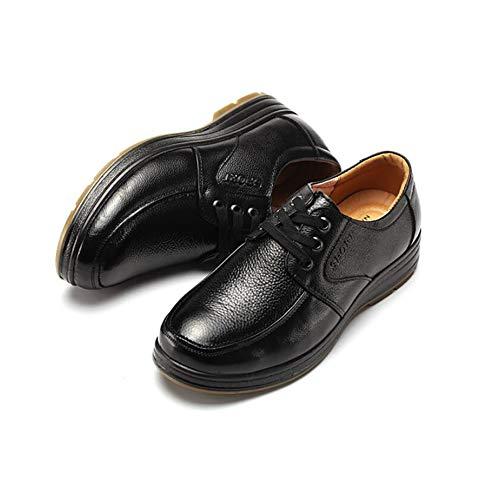 In Pelle Scarpe Nero Per Primavera Autunno Uomo Scarpe Black Scarpe Stringate Casual Comfort Formale Da tqtwxRHIT