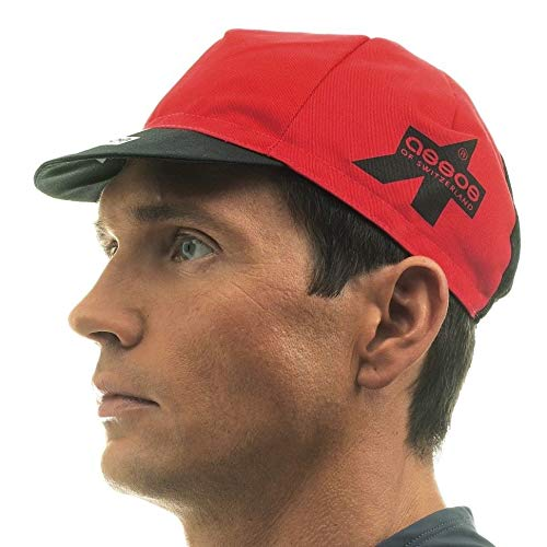 Assos Chamois - Assos Summer Cycling Cap with Mesh Panel - Red