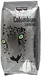 Image of the product Kirkland Signature Colombian Supremo Whole Bean Co that is listed on the catalogue brand of Kirkland Signature. Scored with a 3.0 over 5.
