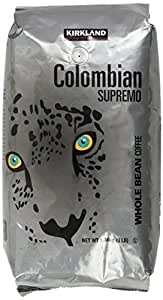 Kirkland Signature Colombian Supremo Whole Bean Coffee, 3 Pound