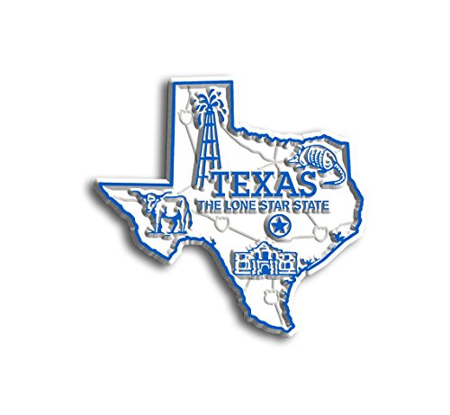 Texas State Map Magnet (State Shape Flexible Magnet)