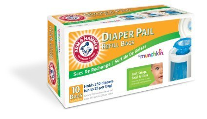 Munchkin Arm & Hammer Diaper Pail Refill Bags, 10 count - 4 Pack