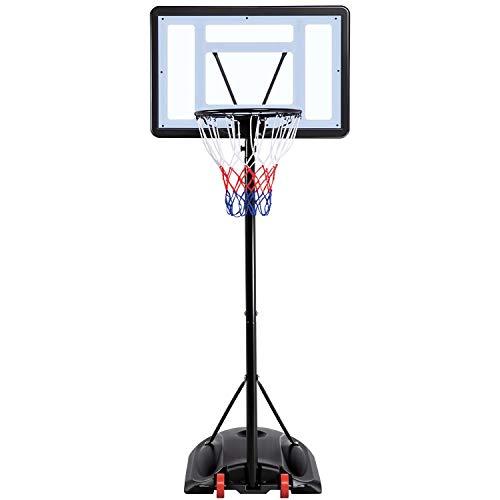 YAHEETECH-72-92ft-Basketball-Hoop-Backboard-System-Portable-Removeable-Basketball-Hoop-Goals-OutdoorIndoor-Adjustable-Height-Basketball-Set-for-KidsYouthTeenagers
