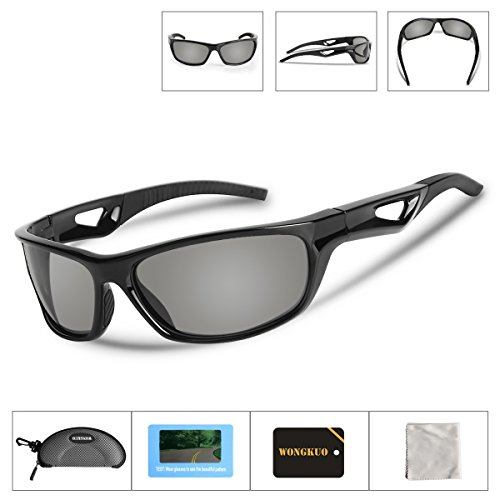 Wongkuo WK306 Men Women Fashion Polarized sports Sunglasses Outdoor bicycle Glasses TR90 Unbreakable Frame Polarized Lenses 100% UV Protection Fits for Fishing Running Golf Baseball Cycling - 100 Uv Cheap Protection Sunglasses