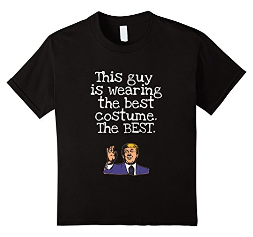 Kids This Guy is Wearing the Best Halloween Costume Trump Tshirt 4 Black