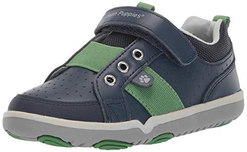 - Hush Puppies Boys' Jesse Sneaker, Navy, 095 Wide US Toddler