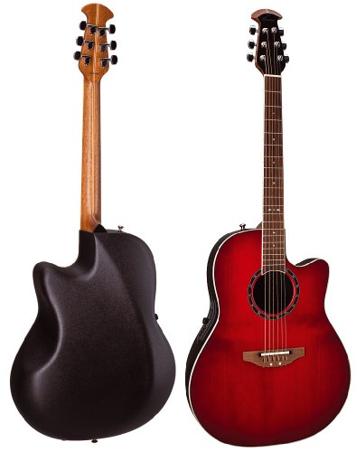 Ovation 2771AX Standard Balladeer Acoustic-Electric Guitar - Cherry Burst