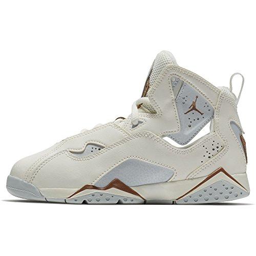 Price comparison product image Nike Air Jordan True Flight GP Little kids' Basketball Shoes Sail/Metallic Red Bronze, 3