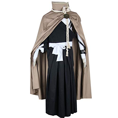 MYYH Anime Kurosaki Ichigo Cosplay Costume Deluxe Outfits with Cape Uniform (L) -