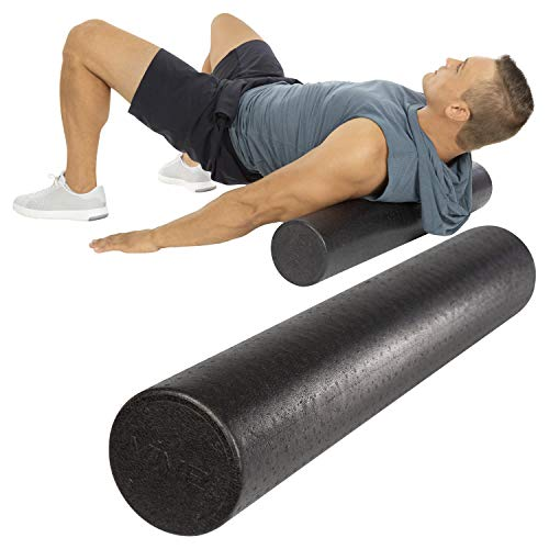 Vive 36 Inch Foam Roller - Soft Massage Stick for Foot, Back, Trigger Point, Legs - Firm and Dense Massager High Density for Yoga, Physical Therapy and Exercise - Deep Muscle Tissue Full Body Stretch