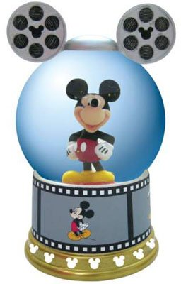 Disney Mickey Mouse Film Roll Movie Musical Water Snow Globe
