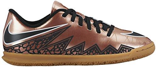 Nike JR Hypervenom Phade II IC, Botas De Fútbol para Niños Marrón / Negro / Blanco (Mtlc Rd Brnz / Blk-Grn Glw-White-)