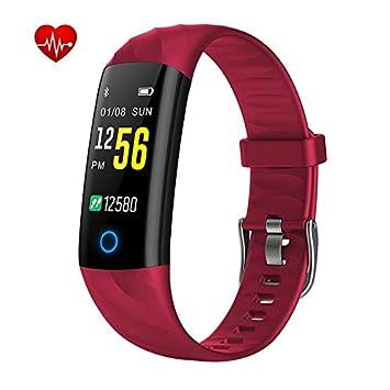 Tracker dactivité, moniteur de fréquence cardiaque, moniteur dactivité, moniteur de couleur Bluetooth, montre connectée pour iPhone 7 8 Plus, ...