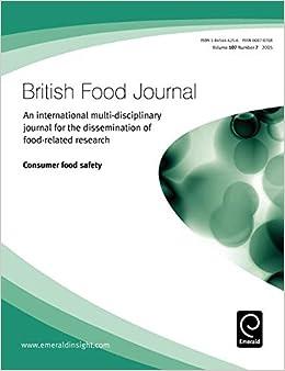 Resultado de imagen para British Food Journal